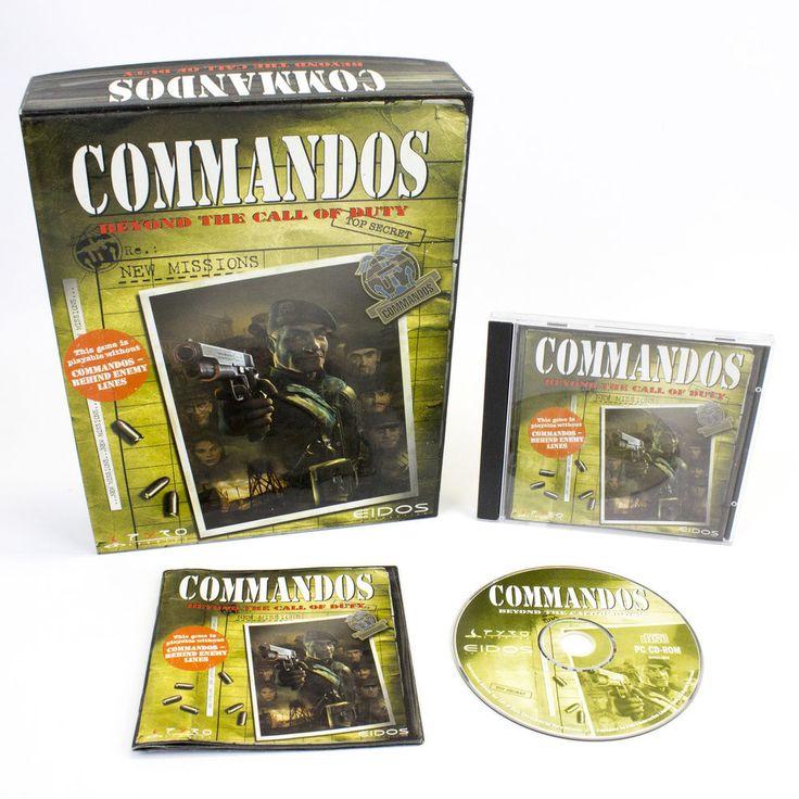 Commandos: Beyond the Call of Duty for IBM PC CD-ROM in Big Box, 1999, VGC, CIB