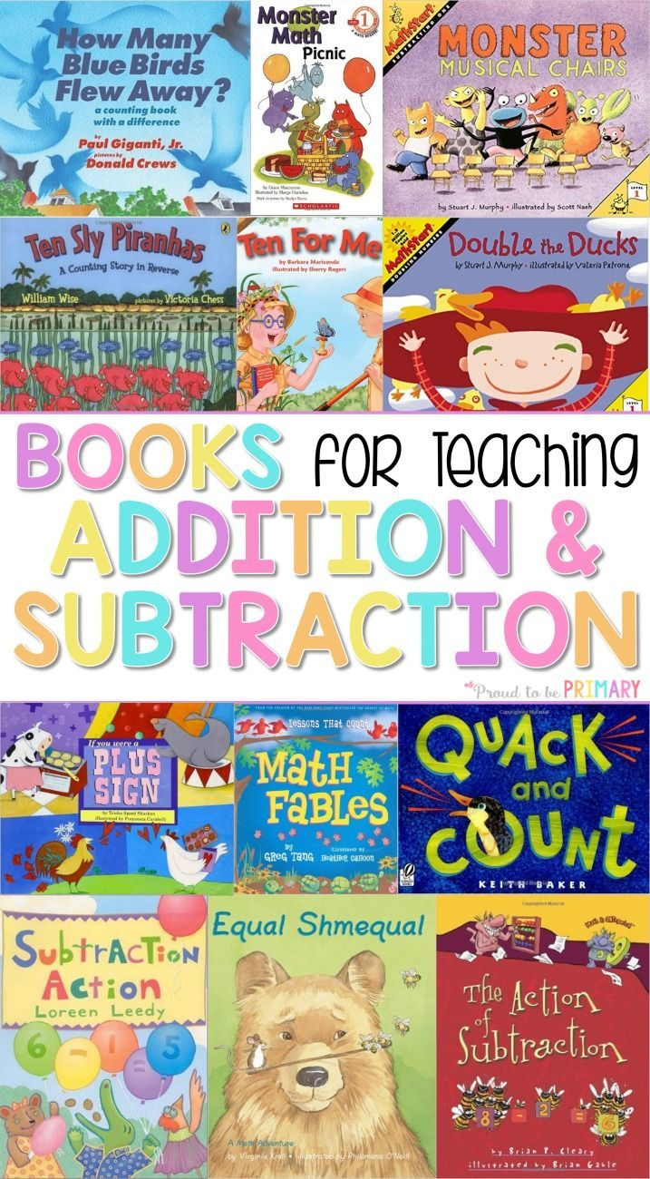The ultimate spot for addition and subtraction to 20 activities for kids in Kindergarten and first grade. A HUGE list of books to teaching addition and subtraction to 20.