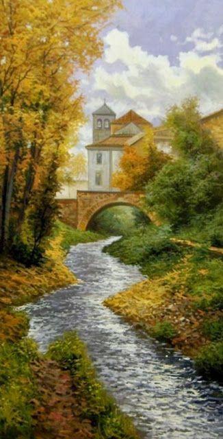 Cuadros Modernos Pinturas : Paisajes Naturales al Óleo de José Ferre Clauzel   PINTURAS PAISAJES   Pinterest   Landscaping, Paintings and Cottage art