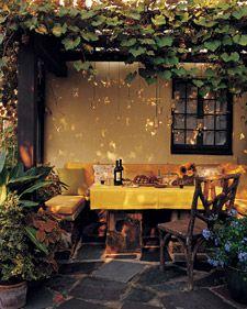 candle outdoor spaceLights, Ideas, Grape Vines, Arbors, Gardens, Martha Stewart, Patios, Outdoor Spaces, Backyards