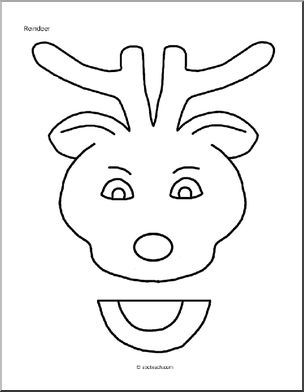 reindeer puppet color pages Paper