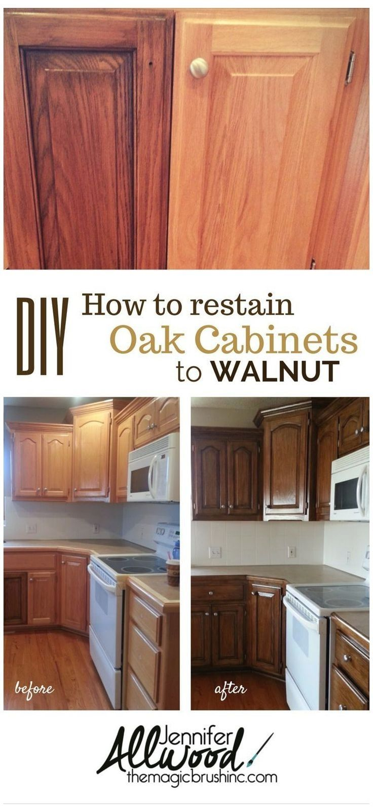 99 Awesome Kitchen Cabinets Ideas In 2020 Stained Kitchen Cabinets Restaining Kitchen Cabinets Kitchen Cabinets Before And After
