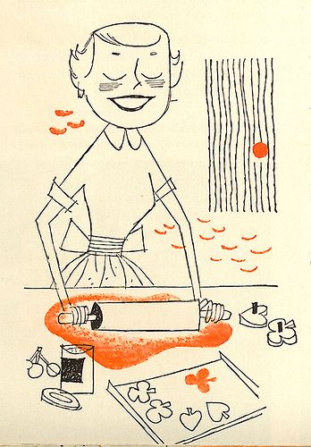 Home Meal Planner pamphlet illustrated by Albert Aquino, 1957.