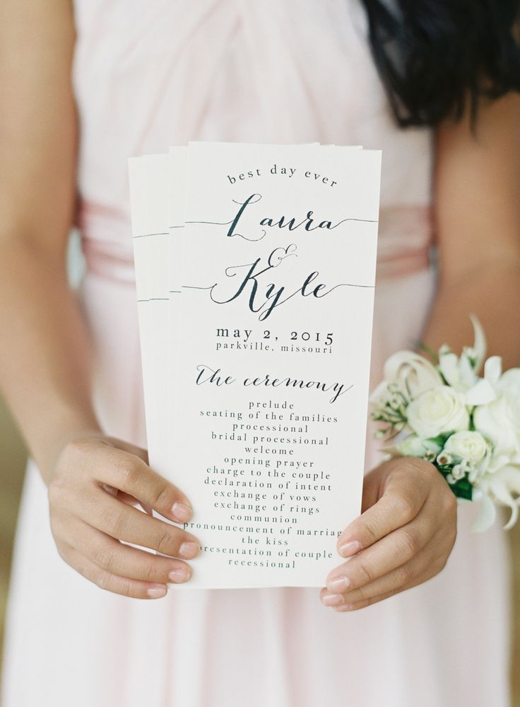 Photography: Brett Heidebrecht - brettheidebrecht.com Calligraphy: Gina DiMartino - www.etsy.com/shop/glimfeathers?ref=l2-shopheader-name    Read More on SMP: http://www.stylemepretty.com/2015/12/17/whimsical-kansas-city-outdoor-wedding/