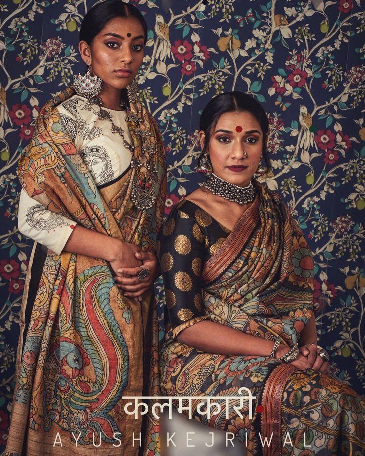 Kalamkari Saree by Ayush Kejriwal For purchases email me at designerayushkejriwal@hotmail.com or what's app me on 00447840384707 We ship WORLDWIDE. Instagram - designerayushkejriwal