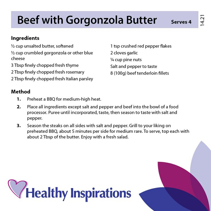 Beef with Gorgonzola Butter #healthyinspirations #healthyrecipes