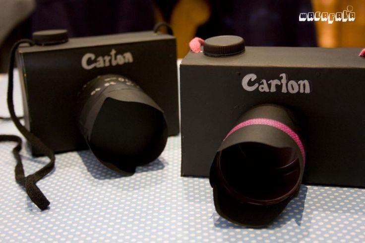 Cómo hacer una cámara de carton para niños!!