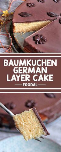 The �Baumkuchen� cake is a specialty pastry relatively unknown outside of Germany. Preparing it takes a unique process by which each and every layer of dough is baked one right after another with layers of fruit jam. Read about making this special treat n