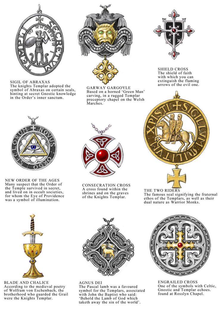 "Knights Templar:  #Knights ""#Templar Jewellery Designs Sheet 1,"" by dashinvaine, at deviantART."