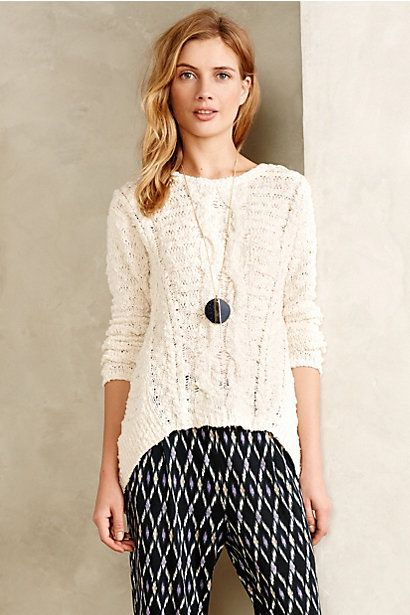Portland Cabled Pullover #anthropologie