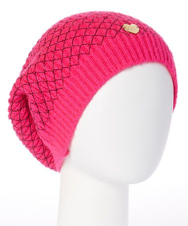 Look what I found on #zulily! Neon Pink Net Worth Beanie #zulilyfinds