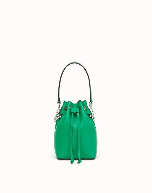 22dc5071c7c0 FENDI MON TRESOR - Green leather mini-bag - view 1 small thumbnail ...