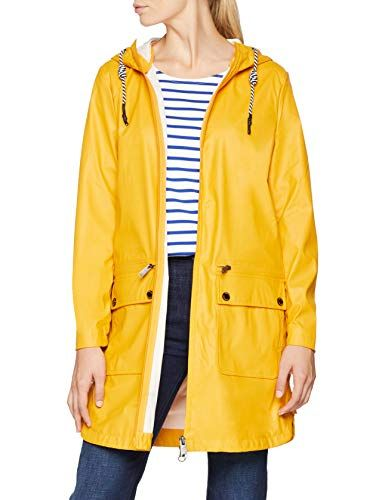 11964e6bd38f30 TOM TAILOR Damen Regenjacke Trendy Regenmantel mit Kaputze Gelb (Merigold  Yellow 3604) Large