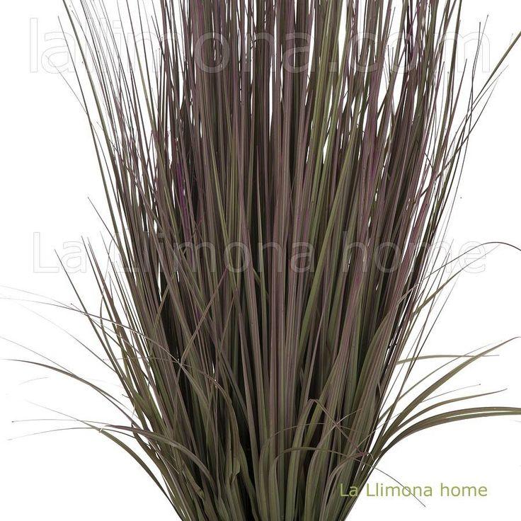 Plantas artificiales. Planta mata cintas artificial bicolor con maceta 97