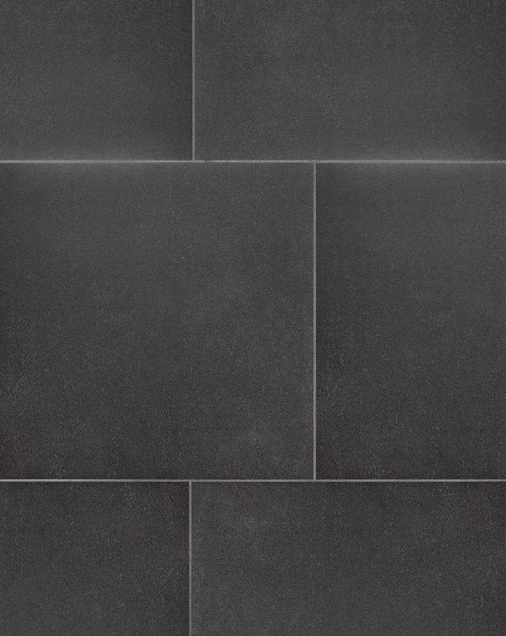 Unistone Black Floor Tiles A Classic Natural Stone Effect Glazed Porcelain Floor Tile With A