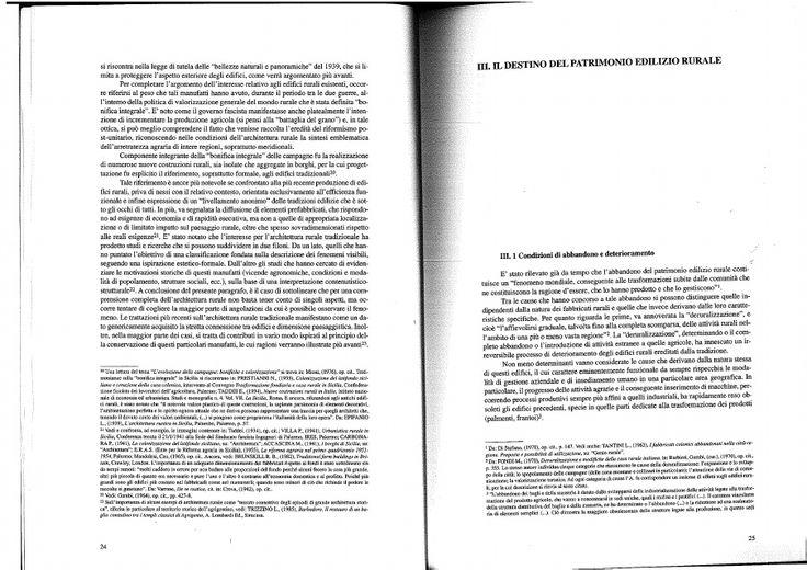 L'architettura rurale tradizionale in Sicilia: conservazione e recupero | Maria Luisa Germana - Academia.edu