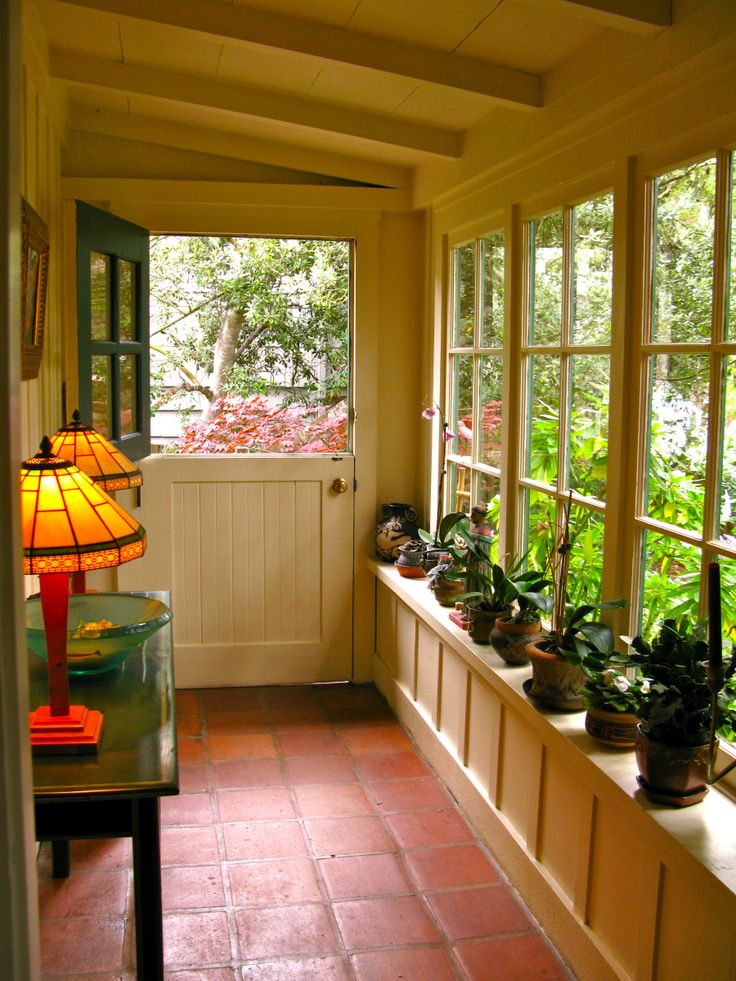 Screened In Porch Herb Garden