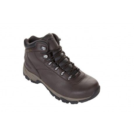 The Hi-Tec Altitude 5 is a no-nonsense boot for men that need the highest level of protection for their feet and ankles on their outdoor adventures. It has a double level layer of water resistance, with a waterproof bootie construction and a waterproof, full grain leather upper that has an i-Shield hydrophobic layer to repel water.