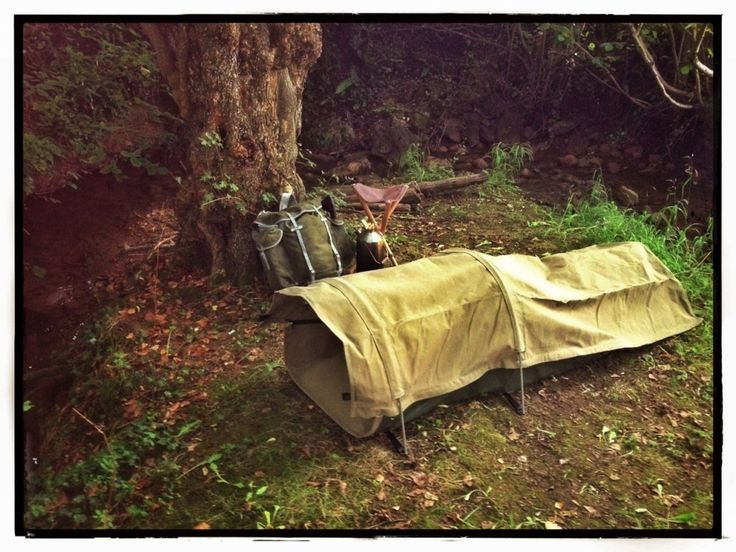 Canvas Bedroll with Aluminium Pole Kit, best night in freezing cold w/no tent, north of Omak Washington