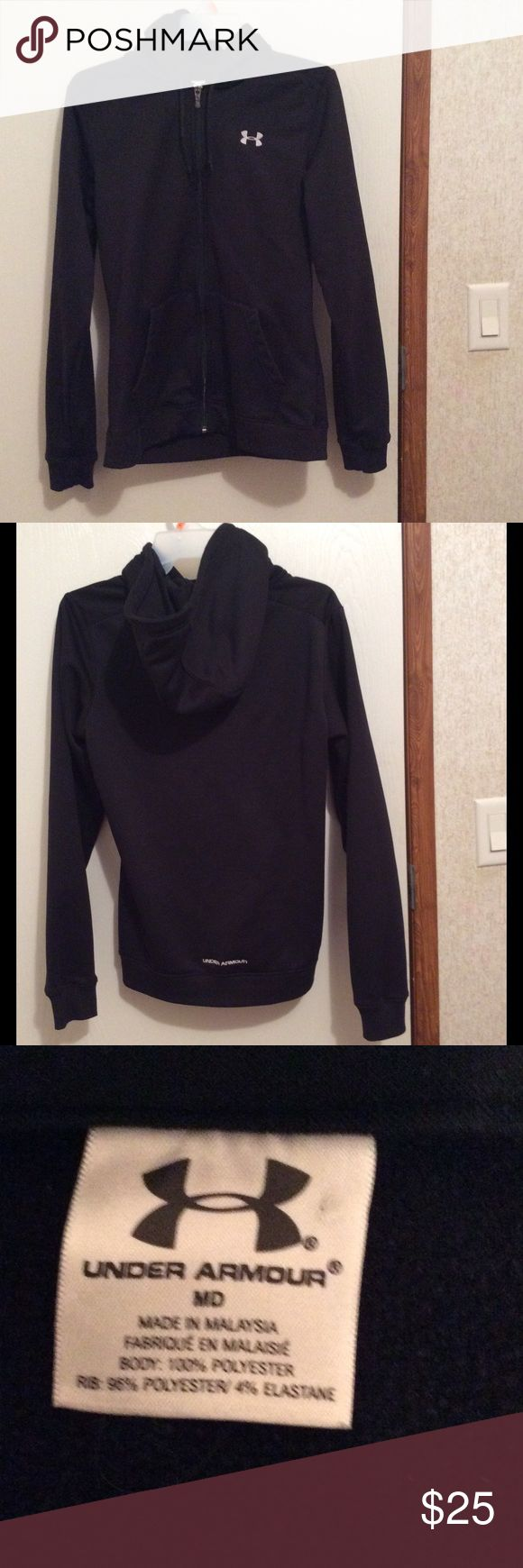 Black Under Armour Jacket size medium💕 Black Under Armour Jacket size medium in great condition.💕 Under Armour Jackets & Coats
