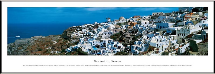 Santorini, Greece Skyline Picture - Panoramic Picture $99.95