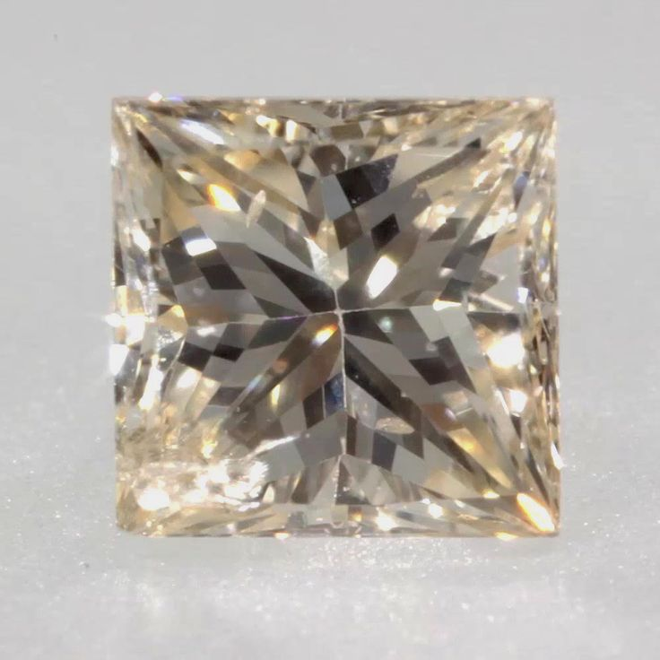 0.13 ct Champagne -C2 SI2 Clarity 2.68x2.66x1.99 mm Princess Cut Natural Diamond