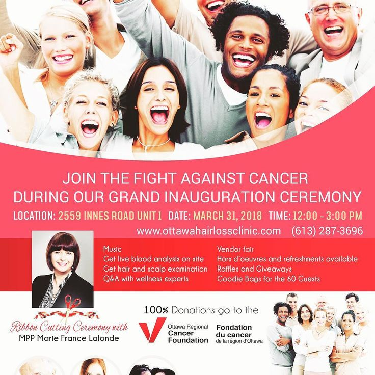 Together We Can Make A Difference. Please share the EVENT with friends and make plans to join the Ottawa Hair Loss Clinic & Wellness and Ottawa Regional Cancer Foundation on March 31 2018 from 12:00 to 3:00 pm  Celebrate with us as we officially launch the Ottawa Hairloss Clinic & Wellness. The clinic specializes in hair loss treatments holistic treatment therapy nutrition and trichology that is backed with a purpose to helping individuals with hair loss and scalp diseases regain their hair…