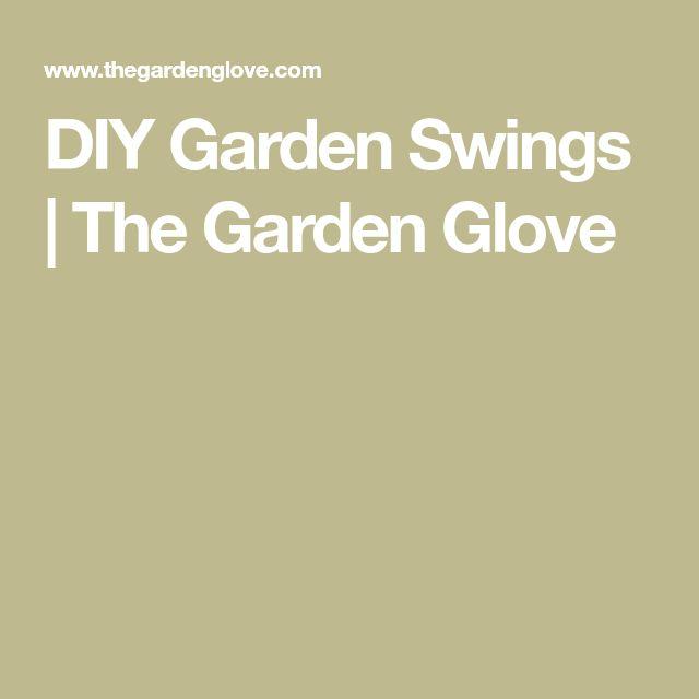 DIY Garden Swings | The Garden Glove