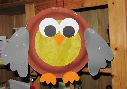 paper plate owl craft  |   Crafts and Worksheets for Preschool,Toddler and Kindergarten