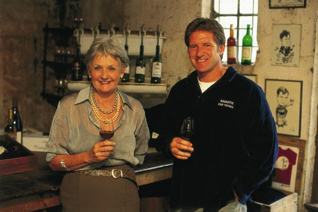Annatjie Melck and Rijk in the Tasting Room https://www.facebook.com/muratiewine/ www.muratie.co.za