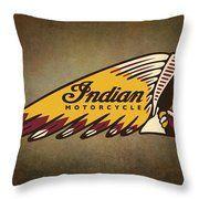 Kriegsmützen Indian Motorcycle Vintage Logo Dekokissen – Indian Motorcycle …   – Schönes Motorrad