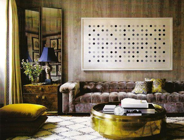 I love these lush color combos.Coffe Tables, Coffee Tables, Elle Decor, Design Trends, Livingroom, Interiors Design, Living Room, Damien Hirst, Elledecor