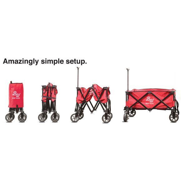 Buddy wagon folding trolley cart   hardtofind.