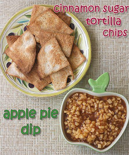 Apple Pie Dip: Apple Pie Dip, Apple Dip, Cinnamon Sugar Tortillas, Recipes, Tortilla Chips, Peaches Kitchens, Apples Pies Dips, Cinnamon Tortillas Chips, Apple Pies