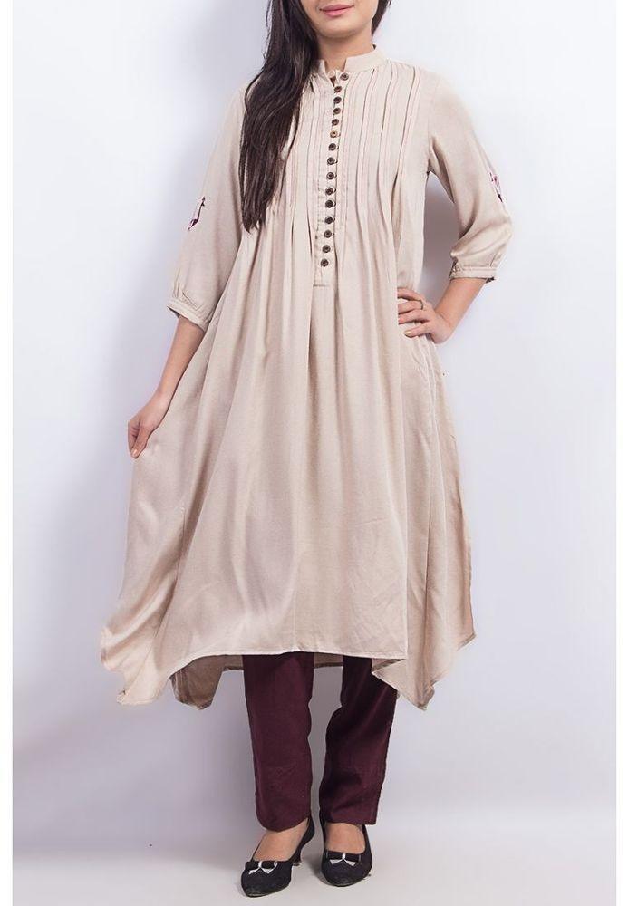 Fashion Women S Designer Wear Linen Tunic Top Shirt Kameez