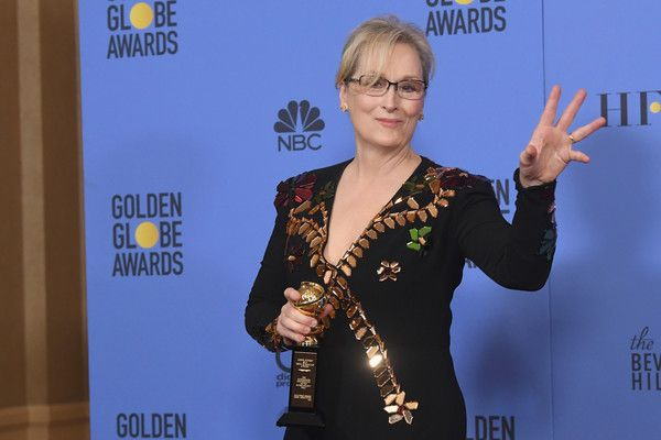 Meryl Streep Photos Photos - Actress Meryl Streep, recipient of the Cecil B. DeMille Award, poses in the press room during the 74th Annual Golden Globe Awards at The Beverly Hilton Hotel on January 8, 2017 in Beverly Hills, California. - 74th Annual Golden Globe Awards - Press Room