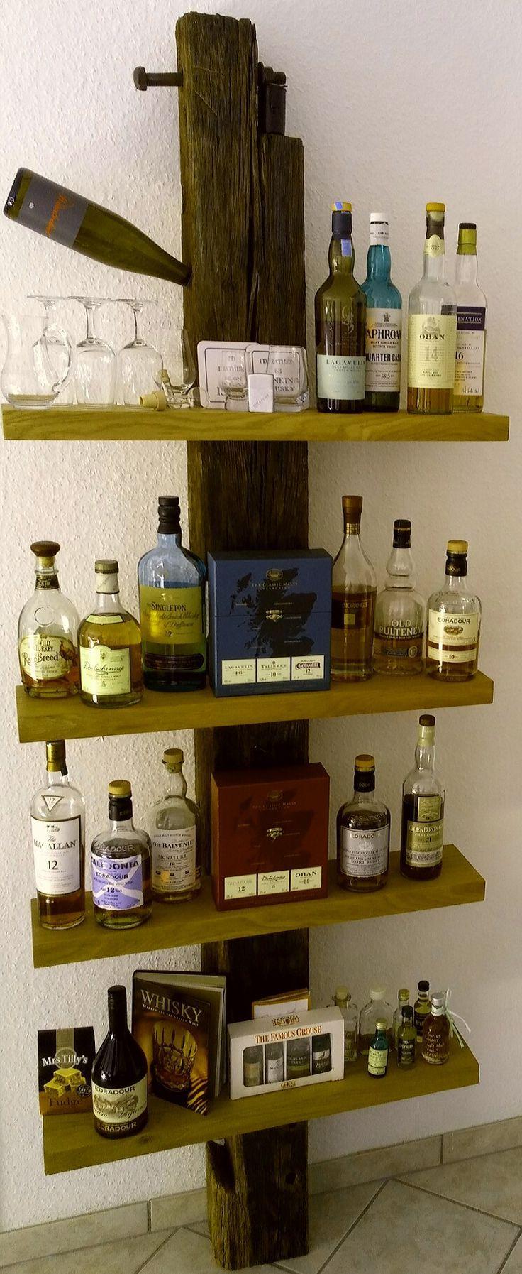 Whisky Schrank Diy Hausbar Badezimmer Regal Holz Schrank Selber Bauen