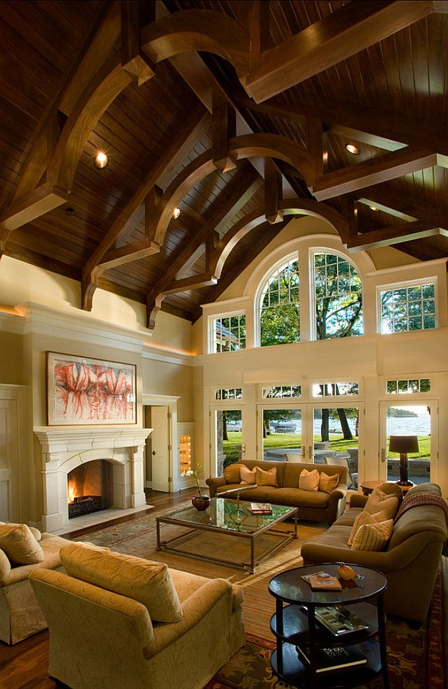Grand Fireplace W Vaulted Ceilings Beams Open Floor: 138 Best Ceiling Treatments...The Fifth Wall Images On