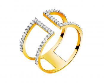 Złoty pierścionek Indali Apart