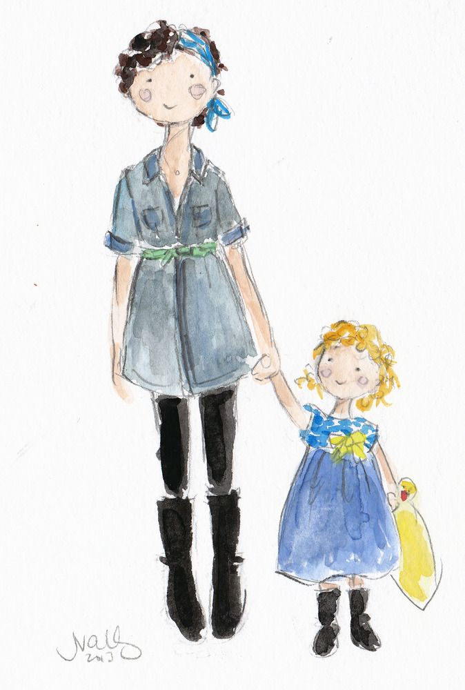 custom watercolor portrait by @Sophie + Lili