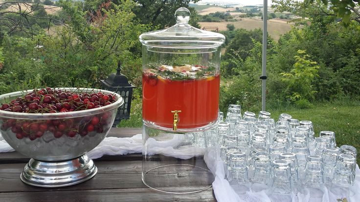 Homemade lemonade with strawberries! From Ktima Likno