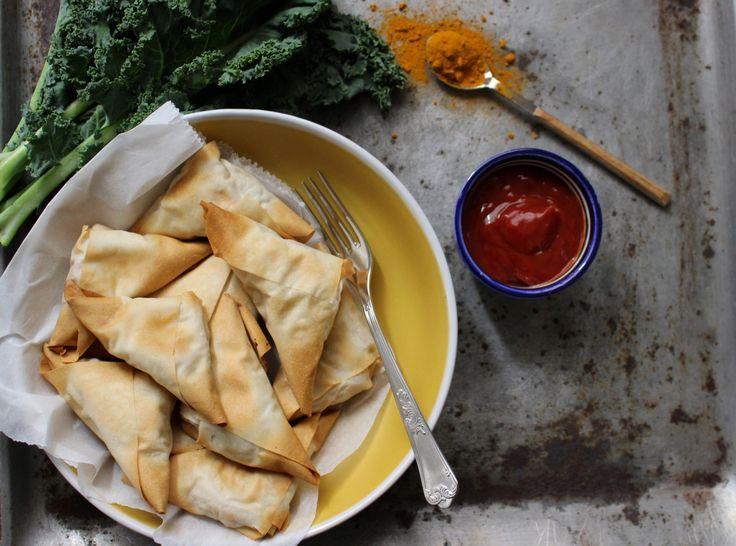 Indian samosas - chamuças indianas de lentilhas