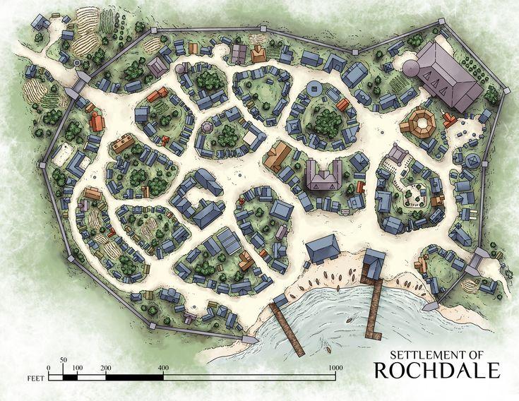 169 best rpg maps images on pinterest fantasy map for Design of settlement ponds