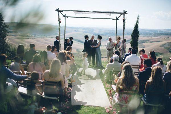 wedding ceremony - photo by Lelia Scarfiotti http://ruffledblog.com/organic-destination-wedding-in-tuscany
