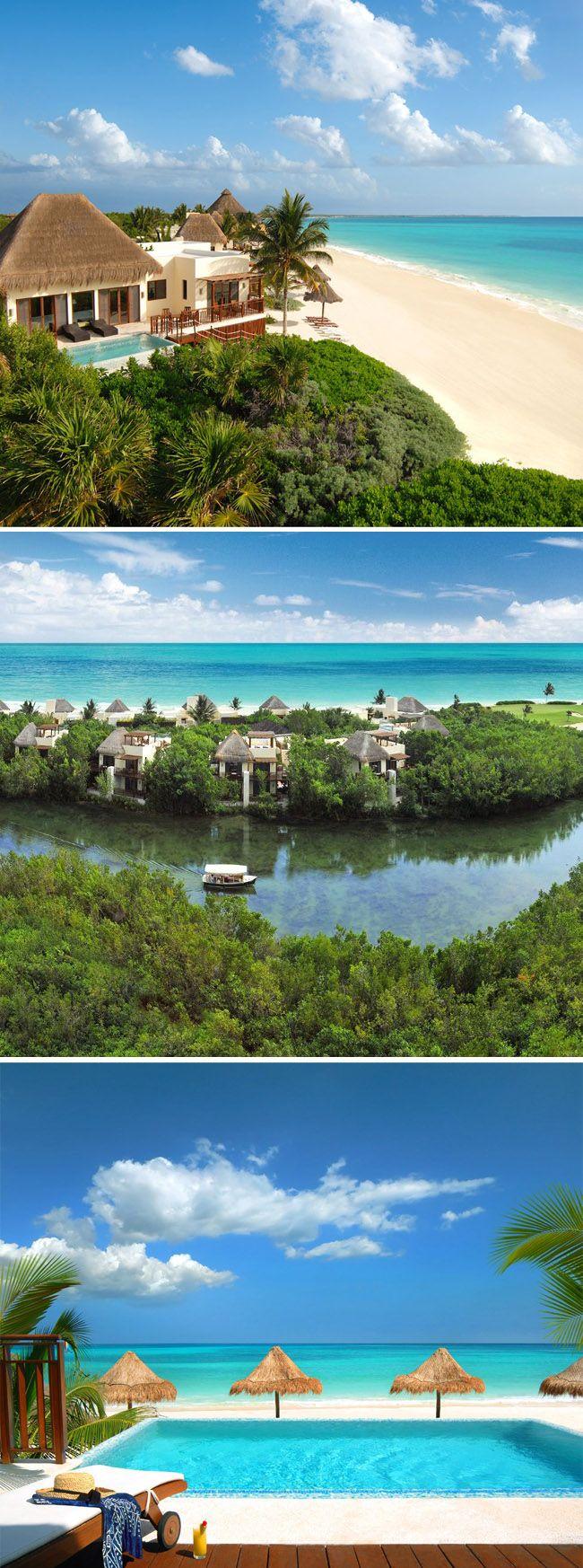 The Fairmont Mayakoba Resort in Playa del Carmen, Mexico. So beautiful and relaxing!