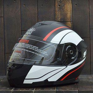 Mũ bảo hiểm lật cằm Royal 912 (đen - trắng)
