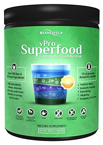 Bianovo Nutrition vPro Superfood Best Tasting Premium Greens Powder Vanilla Chai Matcha Green Tea Flavor.