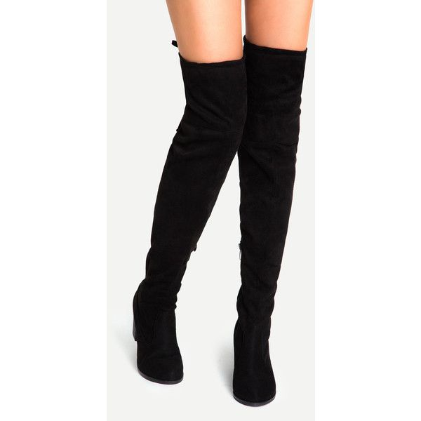 Best 25+ Black suede boots ideas on Pinterest | Over knee suede ...