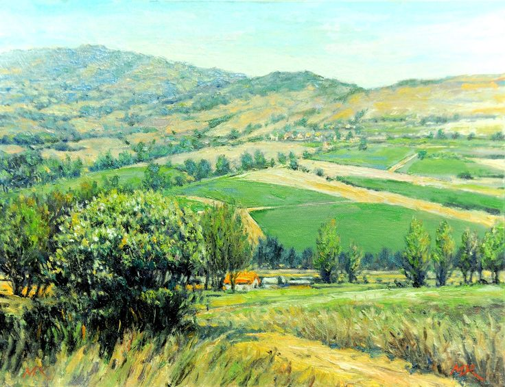 A Sunny day at Napa Valley 2017_32cm x 41cm_OP