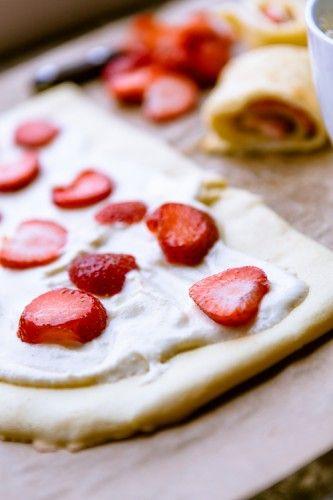 Pfannkuchen mit Mascarpone und Erdbeeren - kuechenchaotin.de